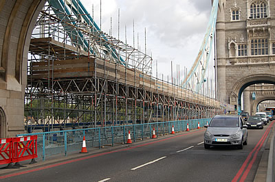 The scaffolding is now underway on the South Approach