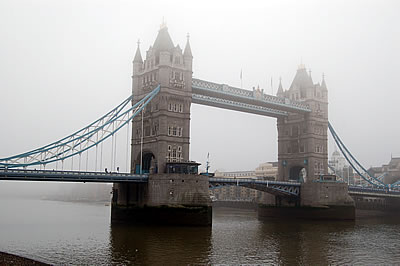A misty day in the City of London