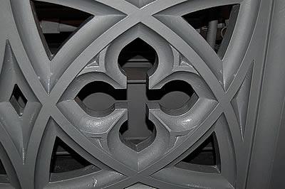 Bridge Parapet detail in High Build Aluminium Primer