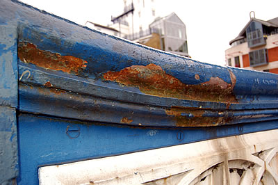 Rust on the Bridge Parapet