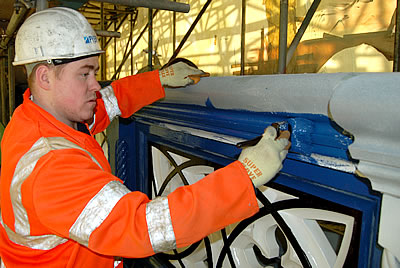 Gary, painting the Bridge Parapet