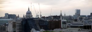 View of the City from the Tower Bridge Walkway