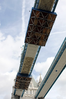 The ALPS Space Frame platforms under the West Walkway of Tower Bridge