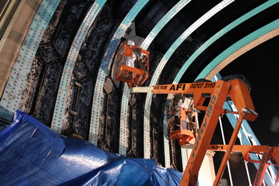 Repainting the Arches on Tower Bridge