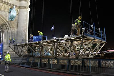 The ALPS Space Frame Platform on Tower Bridge