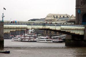 The polyethylene wraps on Tower Bridge