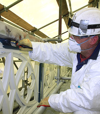 Repainting Tower Bridge - images by Harris Digital Productions